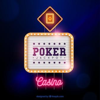 Fundo do sinal do casino do póquer