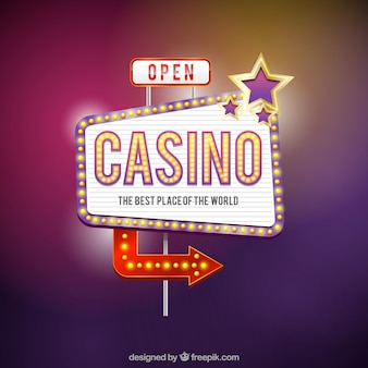 Fundo do sinal do casino