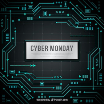 Fundo do software cyber ​​monday