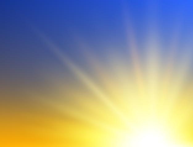 Fundo do sol. resumo do nascer do sol.