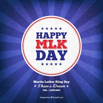 Fundo do sunburst em tons de azul para martin luther king