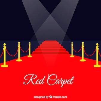 Fundo do tapete vermelho em estilo plano