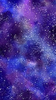 Fundo do telefone móvel da galáxia em tons azuis e roxos