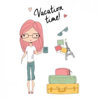 Fundo do tempo de férias
