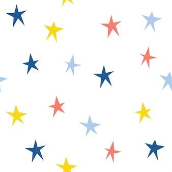 Fundo do teste padrão abstrato feito à mão sem emenda. capa de estrela desenhada de mão para cartão de presente de design, papel de parede de aniversário, álbum, álbum de recortes, papel de embrulho de férias, impressão de bolsa, camiseta, fralda de bebê etc.