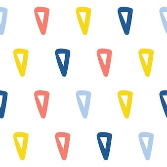 Fundo do teste padrão abstrato feito à mão sem emenda. papel de parede artesanal infantil para cartão de design, fralda de bebê, fralda, álbum de recortes, papel de embrulho de férias, têxteis, impressão de bolsa, camiseta etc.