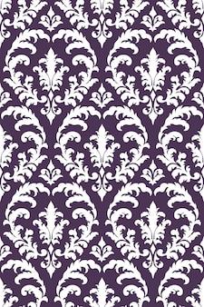 Fundo do teste padrão sem emenda do damasco. ornamento clássico de luxo à moda antiga em damasco
