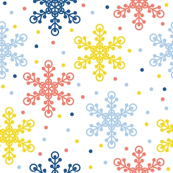 Fundo do teste padrão sem emenda do floco de neve artesanal abstrato. papel de parede de neve artesanal infantil para cartão de design, fralda de bebê, menu de inverno, papel de embrulho de férias, impressão de bolsa, camiseta etc.