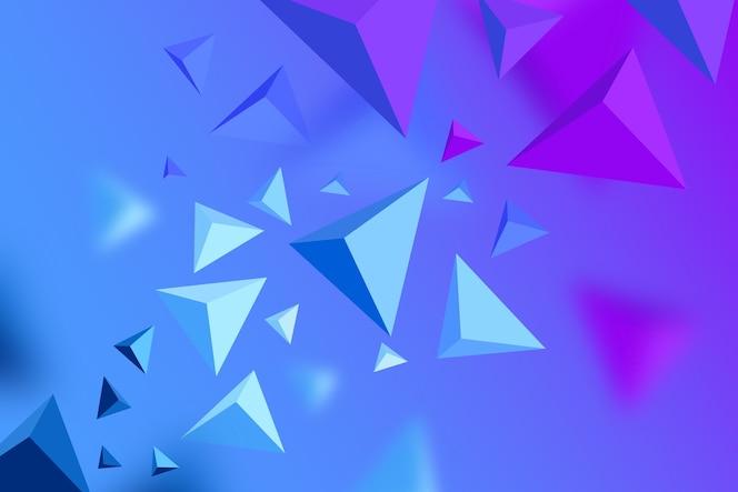 Fundo do triângulo 3d com cores vivas