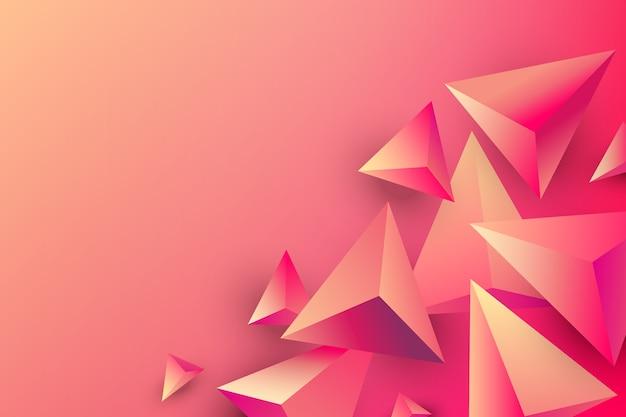 Fundo do triângulo com cores brilhantes