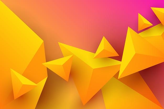 Fundo do triângulo com cores vibrantes