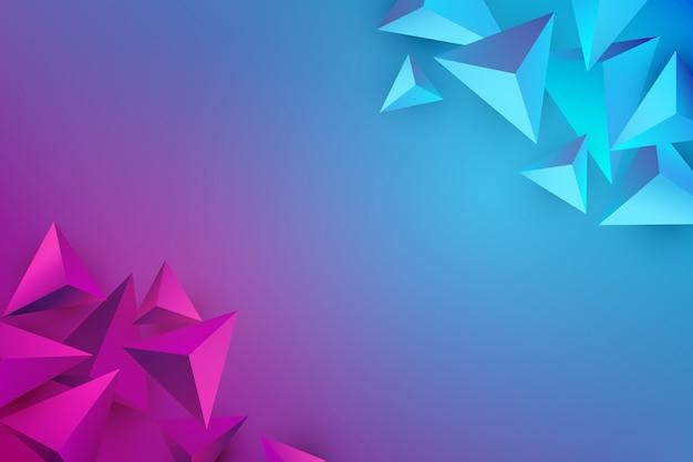 Fundo do triângulo com cores vivas