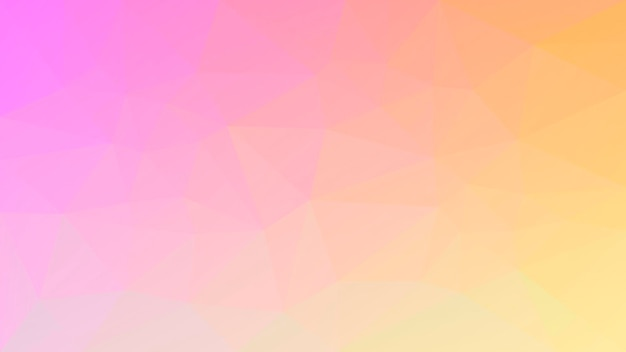 Fundo do triângulo horizontal abstrato do gradiente. pano de fundo poligonal rosa e amarelo quente para apresentação de negócios. banner abstrato geométrico na moda. design de folheto corporativo. estilo mosaico.