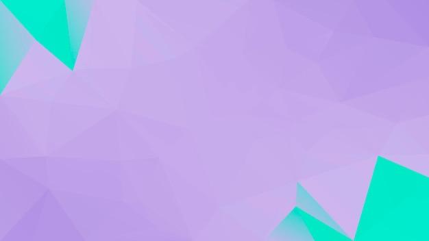 Fundo do triângulo horizontal abstrato do gradiente. pano de fundo poligonal roxo e turquesa para aplicativos móveis e web. banner abstrato geométrico na moda. folheto do conceito de tecnologia. estilo mosaico.