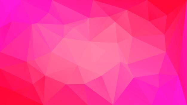 Fundo do triângulo horizontal abstrato do gradiente. pano de fundo poligonal vermelho para aplicativos móveis e web. banner abstrato geométrico na moda. folheto do conceito de tecnologia. estilo mosaico.