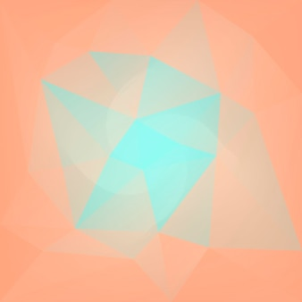 Fundo do triângulo quadrado abstrato do gradiente. pano de fundo poligonal de cor amarela e laranja para aplicativos móveis e web. banner abstrato geométrico na moda. folheto do conceito de tecnologia. estilo mosaico.