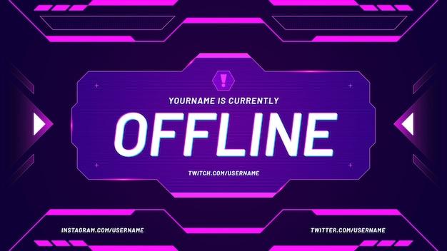 Fundo do twitch atualmente offline