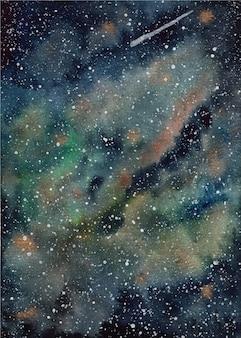 Fundo do universo de aquarela