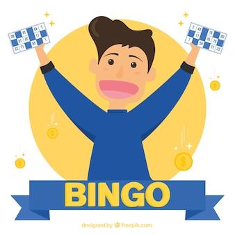 Fundo do vencedor do bingo