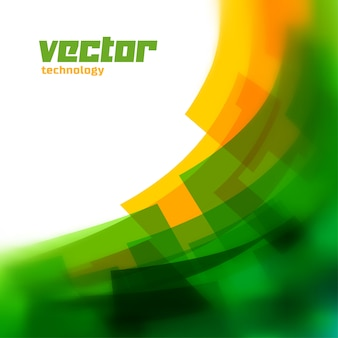 Fundo do vetor com linhas verdes borradas