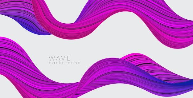 Fundo do vetor com onda abstrata de cor. banner de ciência moderna