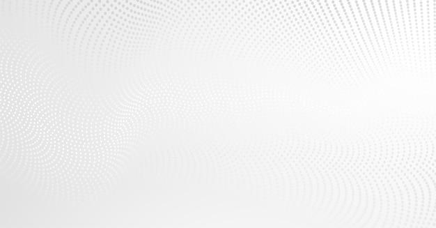 Fundo do vetor com pontos de onda abstratos brancos