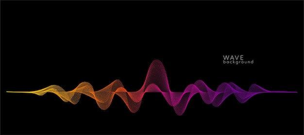 Fundo do vetor com pontos de onda abstratos coloridos