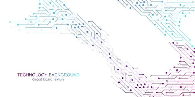 Fundo do vetor da placa-mãe do computador com elementos eletrônicos da placa de circuito. textura eletrônica para tecnologia de computador, conceito de engenharia. ilustração abstrata gerada por computador da placa-mãe