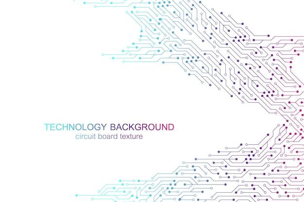Fundo do vetor da placa-mãe do computador com elementos eletrônicos da placa de circuito. textura eletrônica para tecnologia de computador, conceito de engenharia. ilustração de computação integrada da placa-mãe.