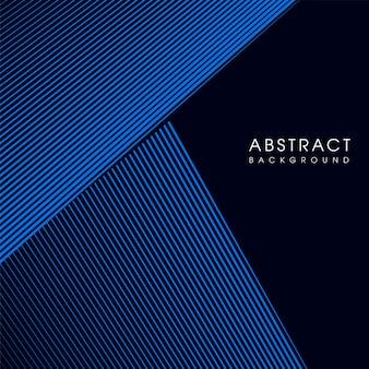 Fundo do vetor de linha abstrata geométrica azul