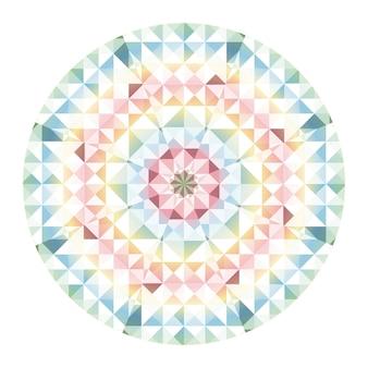Fundo do vetor do caleidoscópio. abstrato geométrico padrão low poly. fundo claro do triângulo. elementos geométricos do triângulo. fundo triangular abstrato. caleidoscópio geométrico do vetor.