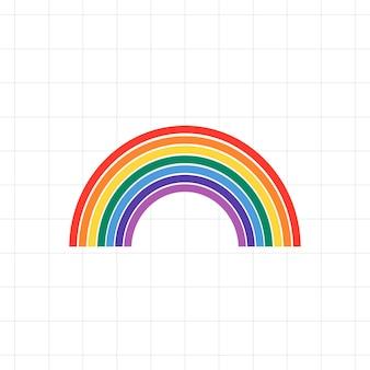 Fundo do vetor do orgulho lgbtq do arco-íris
