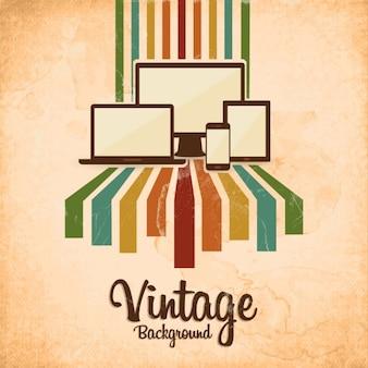 Fundo do vintage com aparelhos