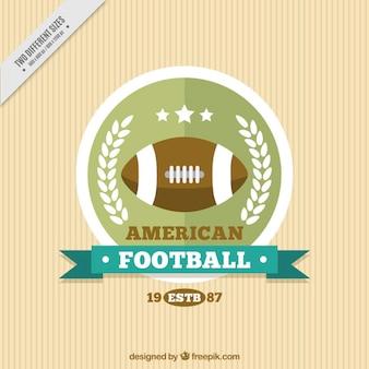 Fundo do vintage com emblema do futebol americano