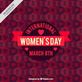 Fundo do vintage dos corações do dia da mulher internacional