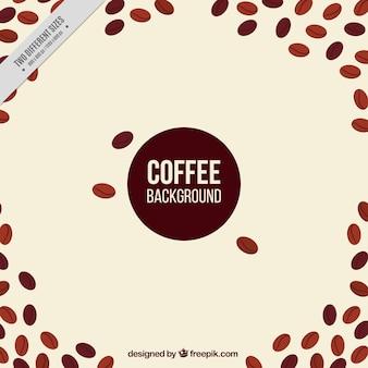 Fundo do vintage dos grãos de café