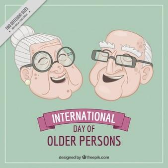 Fundo dos avós agradáveis rindo