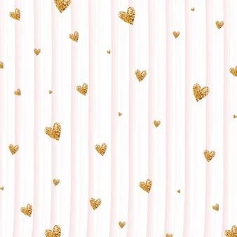 Fundo dos corações do ouro