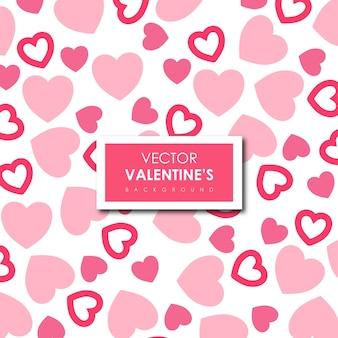 Fundo dos corações do vetor dos namorados simples