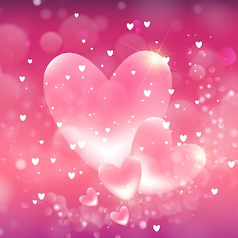 Fundo dos corações dos namorados