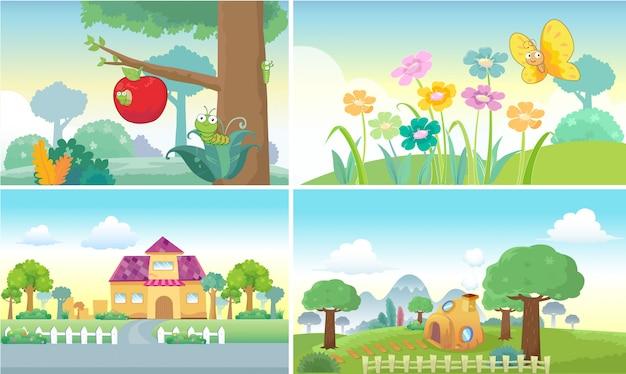 Fundo dos desenhos animados fofo