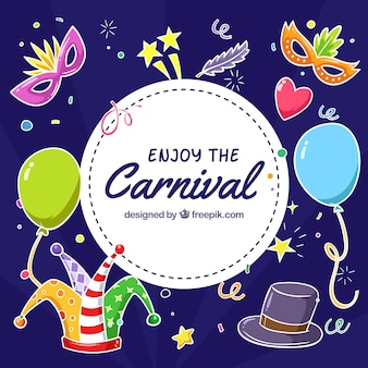 Fundo dos elementos do carnaval