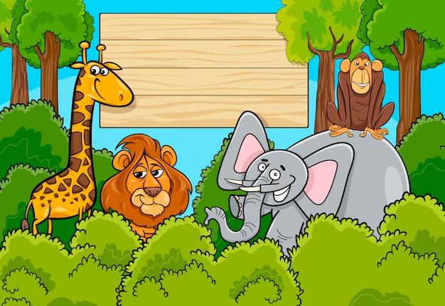 Fundo dos personagens de animais selvagens