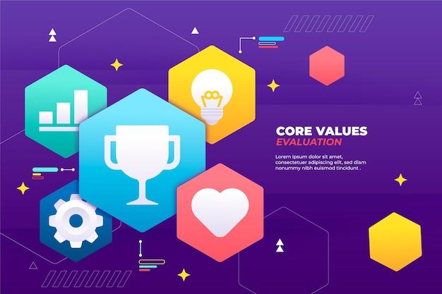 Fundo dos valores principais do gradiente