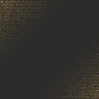 Fundo dourado abstrato. efeito de meio-tom com design luxuoso pontilhado.