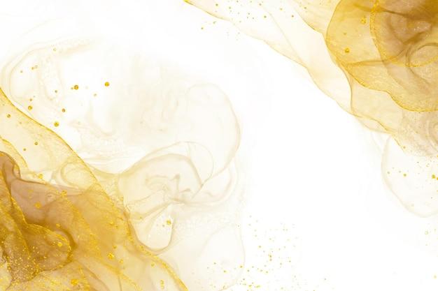 Fundo dourado abstrato elegante com elementos brilhantes