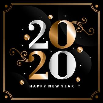 Fundo dourado ano novo