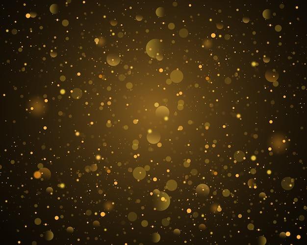 Fundo dourado bokeh festivo