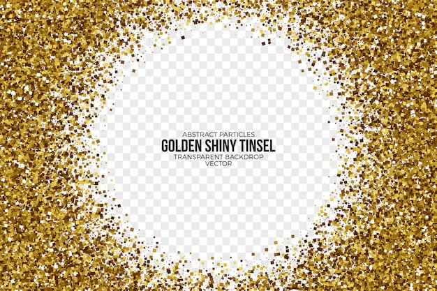 Fundo dourado brilhante ouropel vetor abstrato