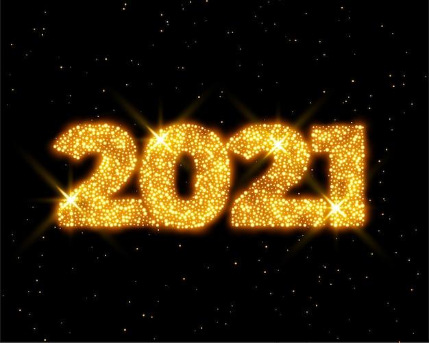 Fundo dourado com brilhos de ano novo
